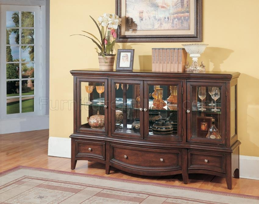 Credenza Dark : Hooker furniture dining room corsica dark credenza