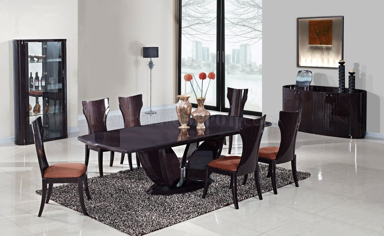 D52 dining table in wenge by global furniture usa woptions