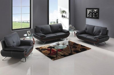 Leather Sofaloveseat on Black Bonded Leather Sofa   Loveseat Set W Metal Legs   Options At