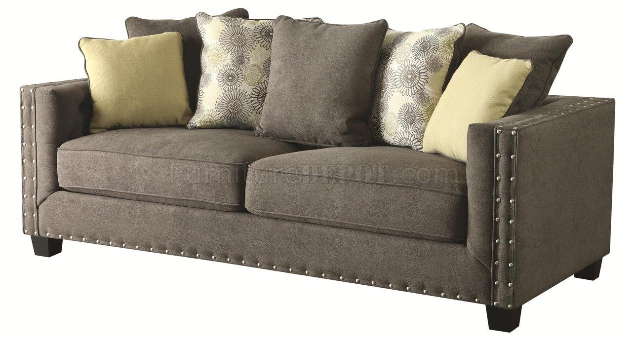 Kelvington Sofa In Grey Fabric 501421 By Coaster W Options