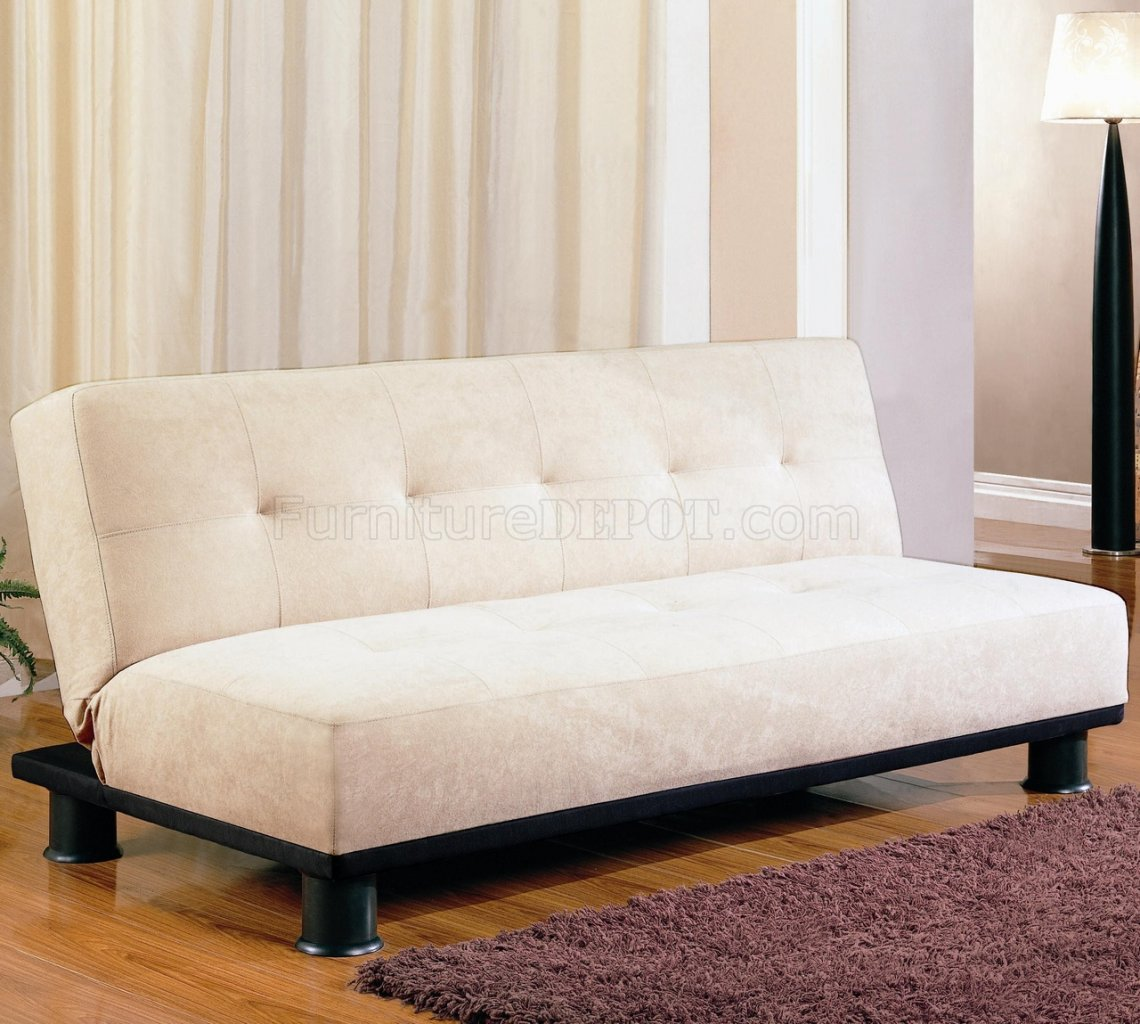 Modern Convertible Sofa Bed 300165 Beige