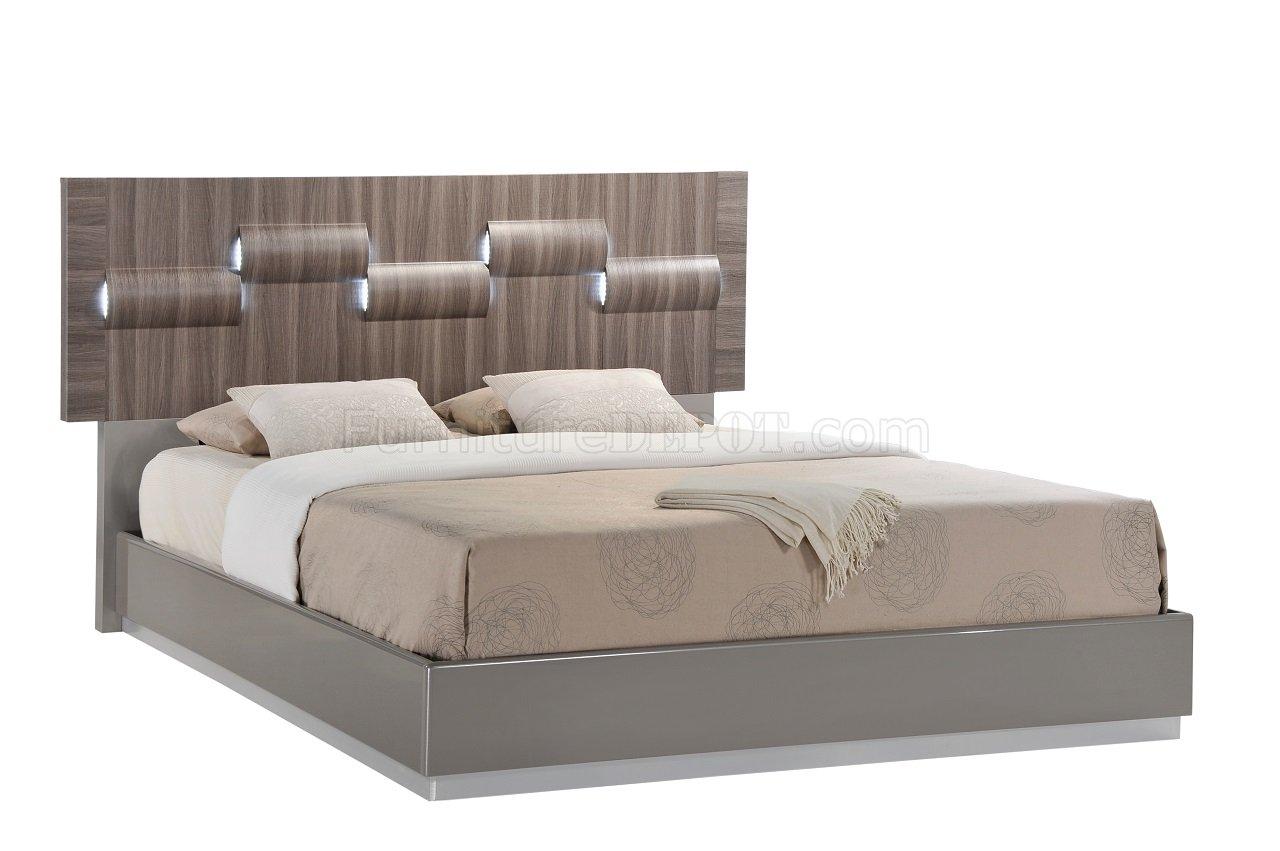 Adel Bedroom In Grey Zebra Wood By Global W Optional Casegoods