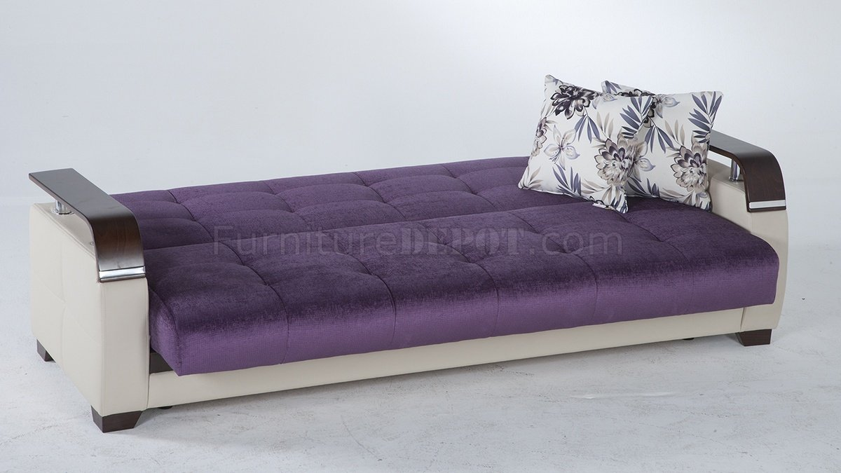 Purple sofa bed dark purple sofa bed www gradschoolfairs for Purple sofa