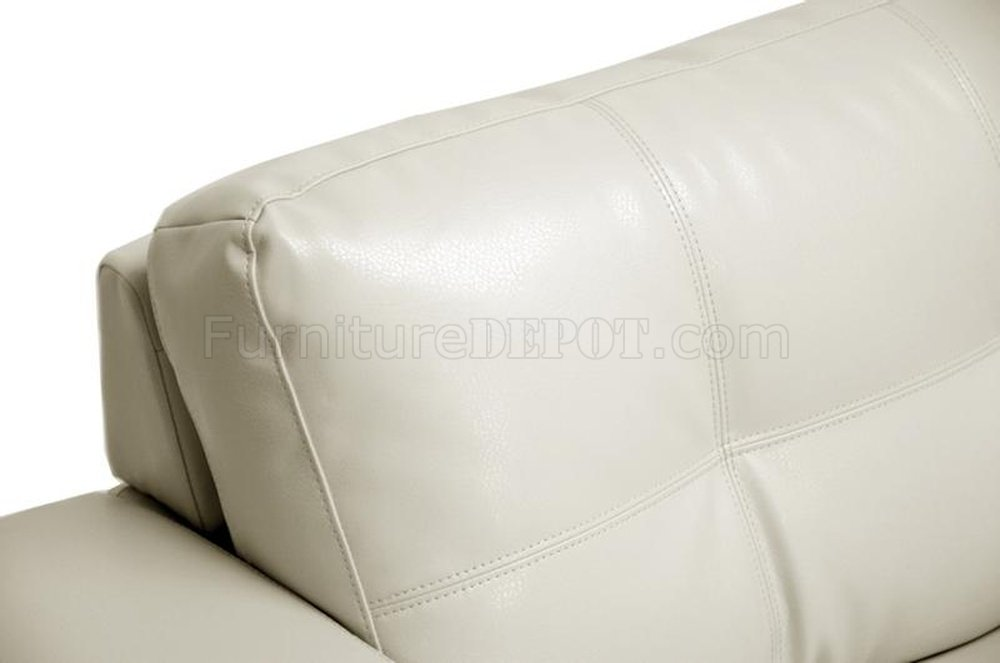 Whitney Sofa Set In Ivory Bonded Leather By Wholesale