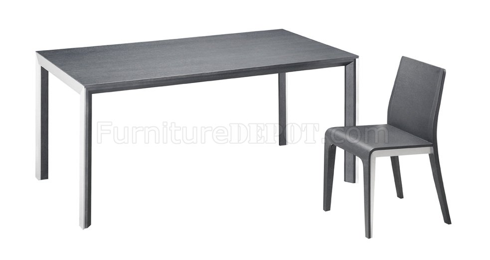 Black or White Glass Top Dining Table with Brushed Steel Frame