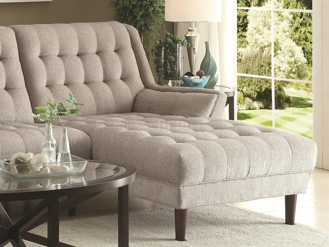 Fine Natalia Sectional Sofa 503777 In Dove Grey Fabric By Coaster Gmtry Best Dining Table And Chair Ideas Images Gmtryco