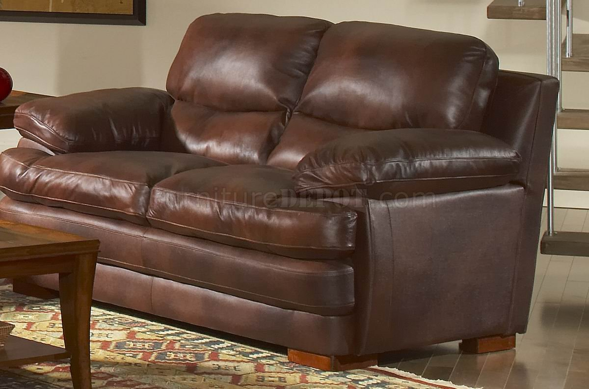 Magnificent Leather Italia Classic Brown Baron Sofa Loveseat Set W Options Evergreenethics Interior Chair Design Evergreenethicsorg