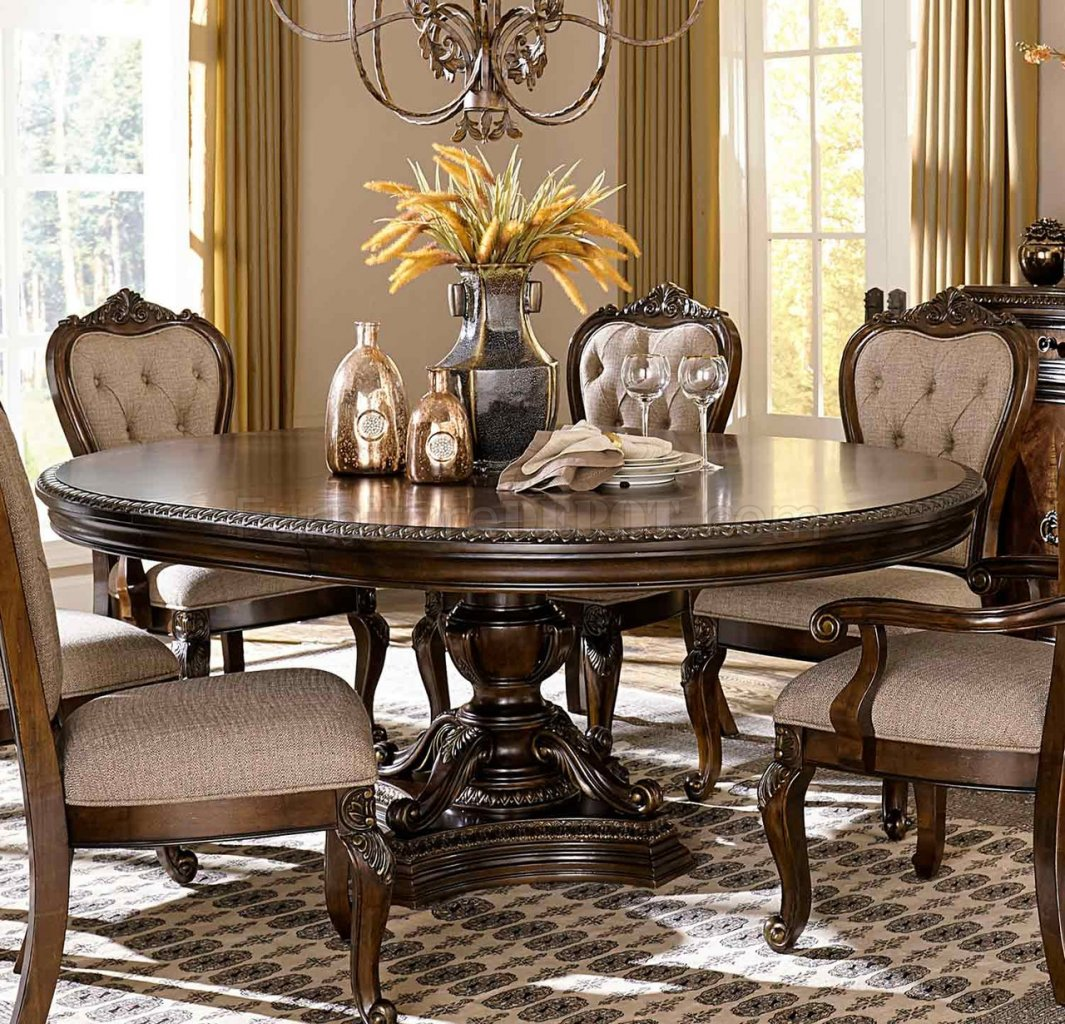Bonaventure Park Round Table 1935 76 In Cherry By Homelegance