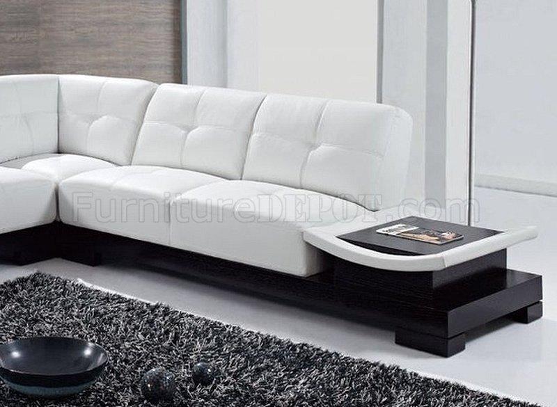 Perfect U778 Sectional Sofa White Bonded Leather   Global Furniture USA