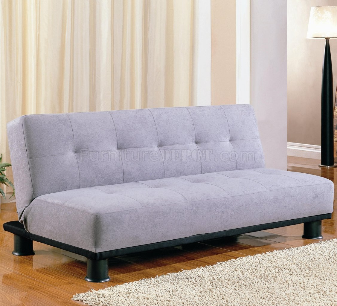 Modern Microfiber Convertible Sofa Bed 300164 Grey