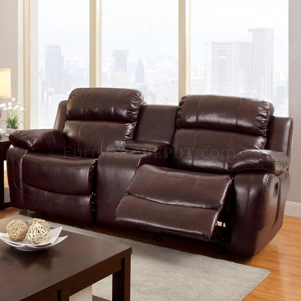 casual rustic reclining pd of shop faux sofa america couch dark furniture leather oxford brown