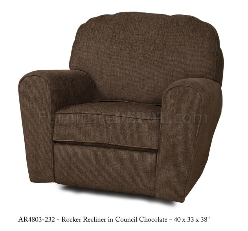 Council chocolate fabric stylish modern rocker recliner - Stylish rocker recliner ...