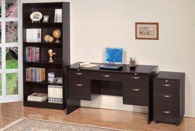 Espresso Finish Modern Writing Desk W 5 Drawers Amp Optional