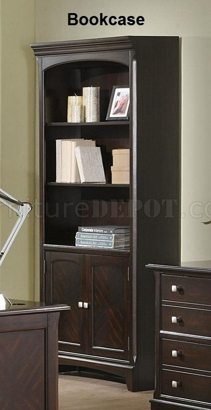 Garson 801011 Office Desk In Cappuccino W Optional Items