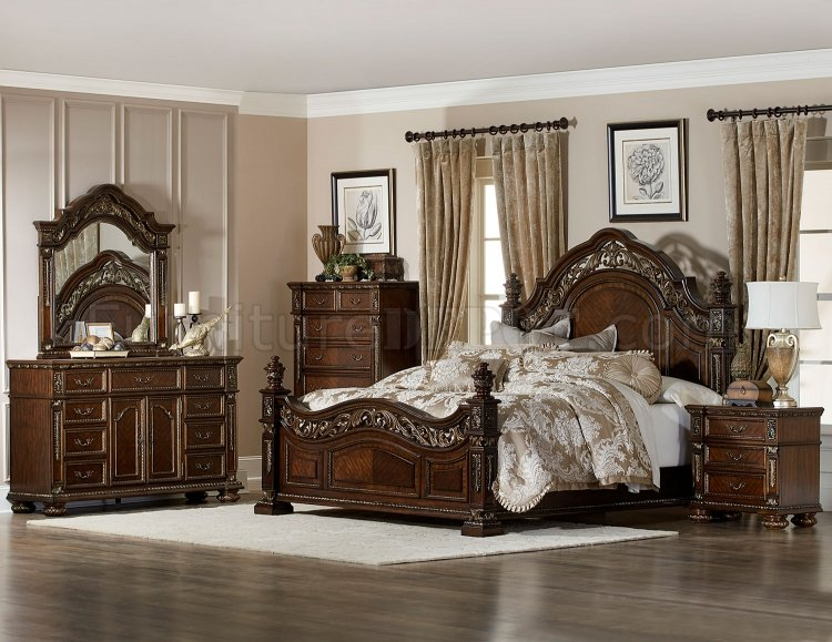 Catalonia Bedroom 1824 In Cherry Finish By Homelegance