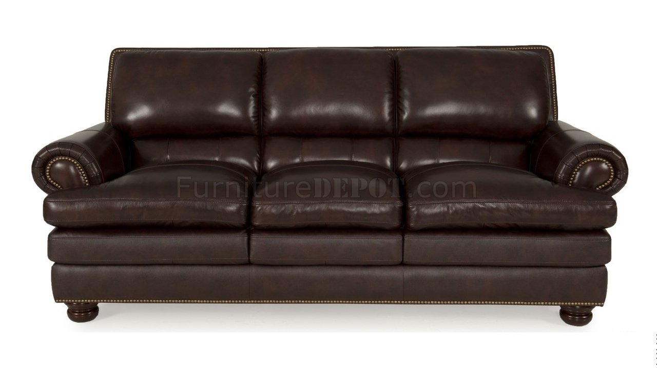 8294 roswell sofa loveseat in burgundy by leather italia Burgundy leather loveseat