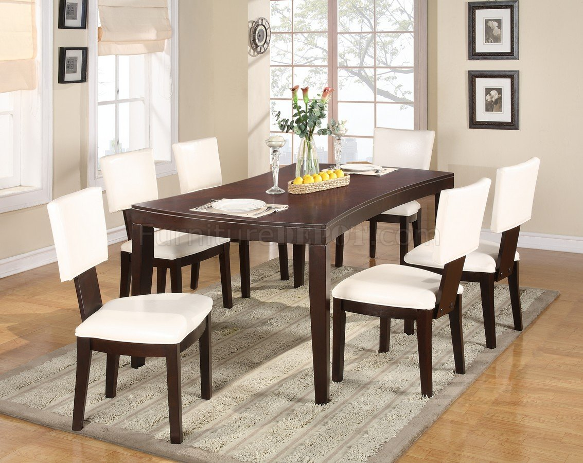 Warm Espresso Finish Modern Dining Table W/Optional Side