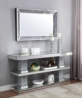 Noralie Console Table 90462 In Mirror By Acme W Options