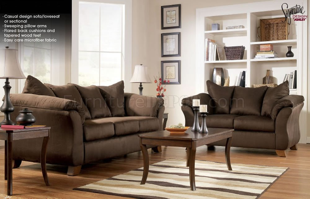 Microfiber Stylish Sofa Loveseat Set