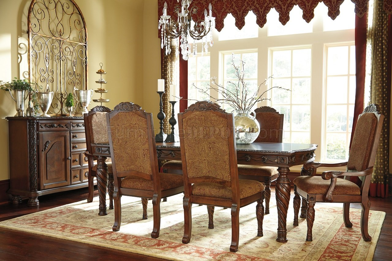 ashley furniture north shore living room set shore dining table d553 35 brown furniture 27623