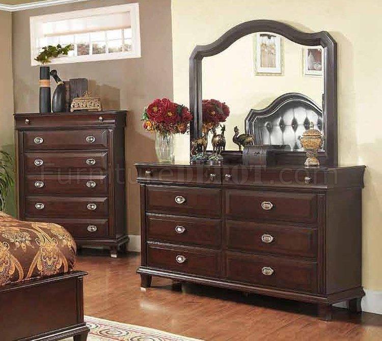 5pc bedroom set w tufted headboard options