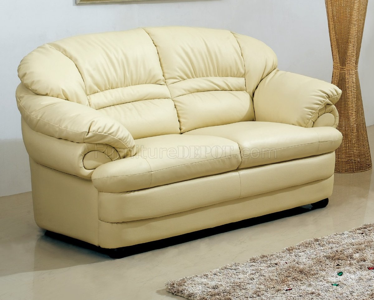 S258 A Sofa In Ivory Leather By Pantek W Options