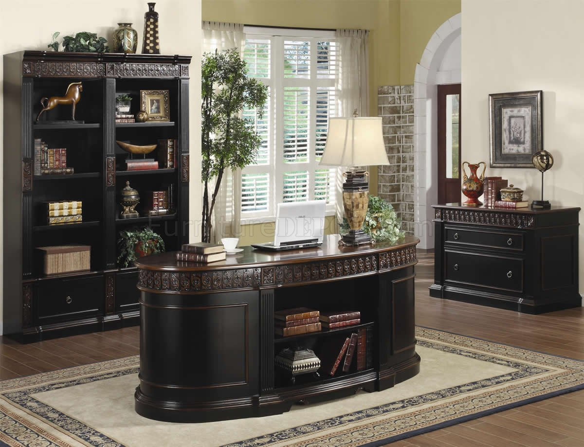 Hom Office Furniture: Rowan Office Desk 800921 Espresso & Brown By Coaster W/Options