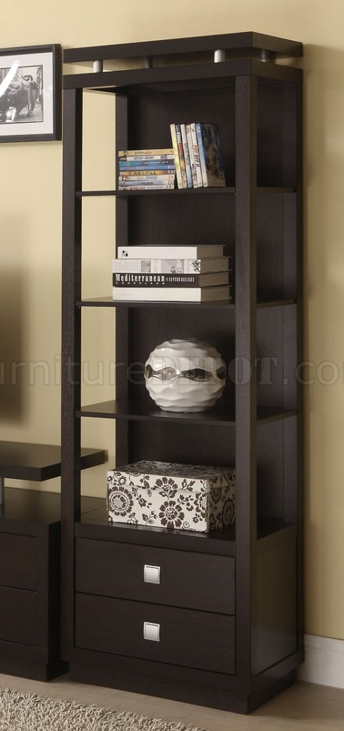700696 Cappuccino Tv Stand By Coaster W Media Towers