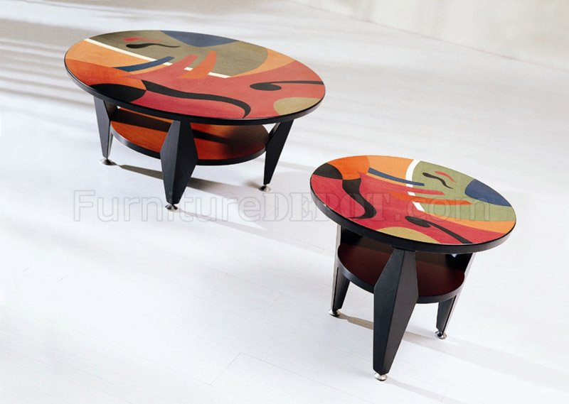 Artistic Coffee Table With Round Top GFC 26025C 26025E