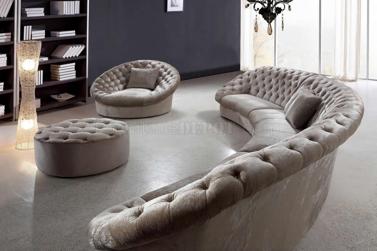 Incredible Cosmopolitan Sectional Sofa Chair Ottoman Tan Fabric By Vig Spiritservingveterans Wood Chair Design Ideas Spiritservingveteransorg