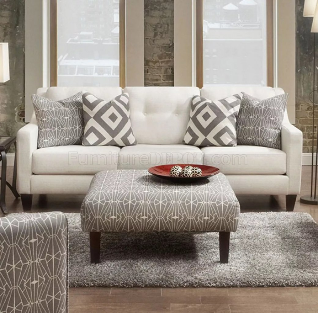 Fabric For Furniture: Parker Sofa SM8563 In Ivory Fabric W/Options