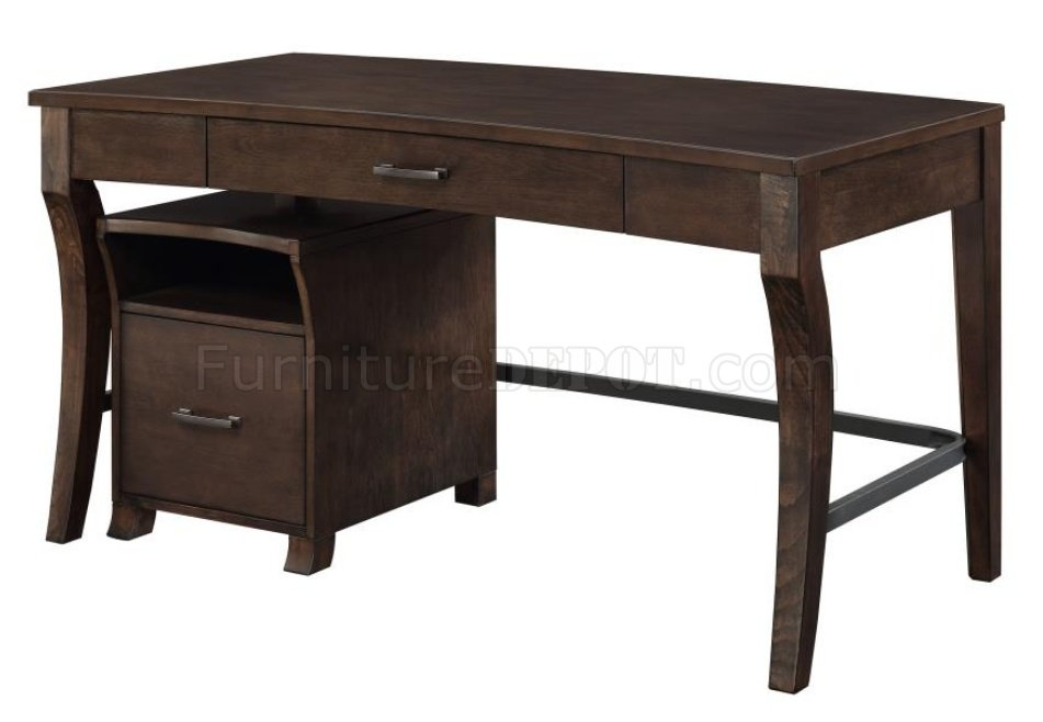 Scott Living Writing Desk W File Cabinet 801751 By Coaster