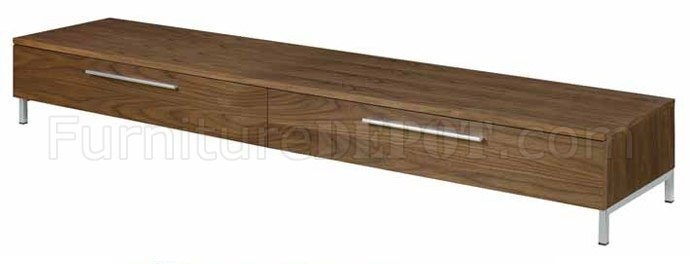 walnut finish modern media unit w/optional tv stand