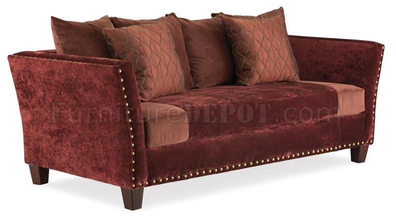 Multi Color Micro Suede Classic Living Room Sofa