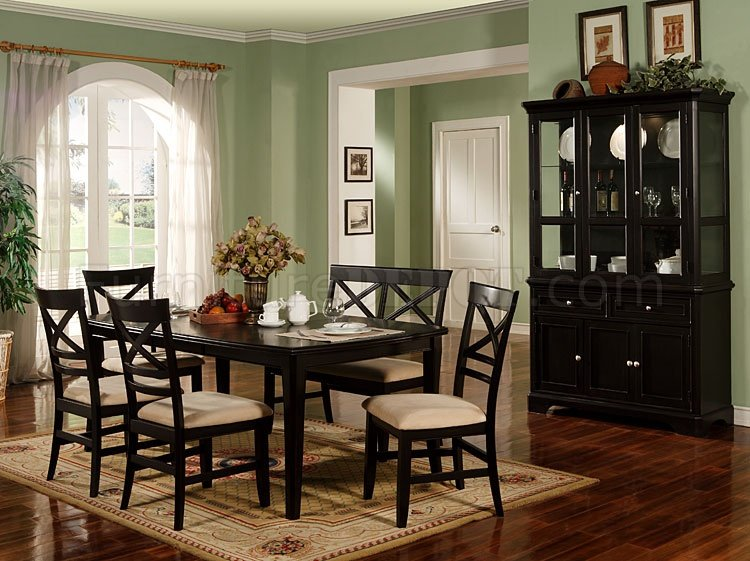 Black Finish Contemporary Dining Room Furniture CRDS 30 101270