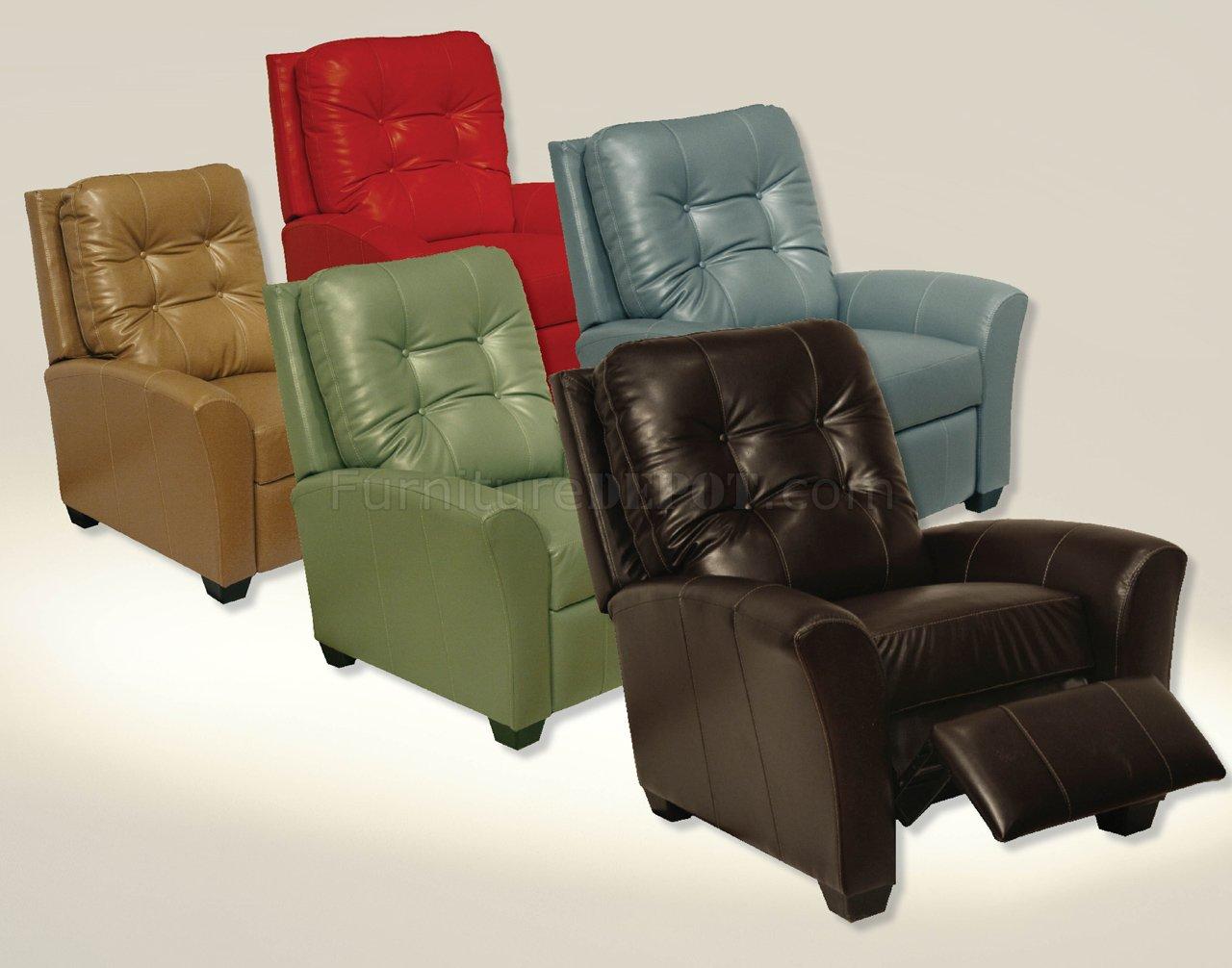 Choice of Color Modern Braxton Reclining Chair CNR 5529 Braxton