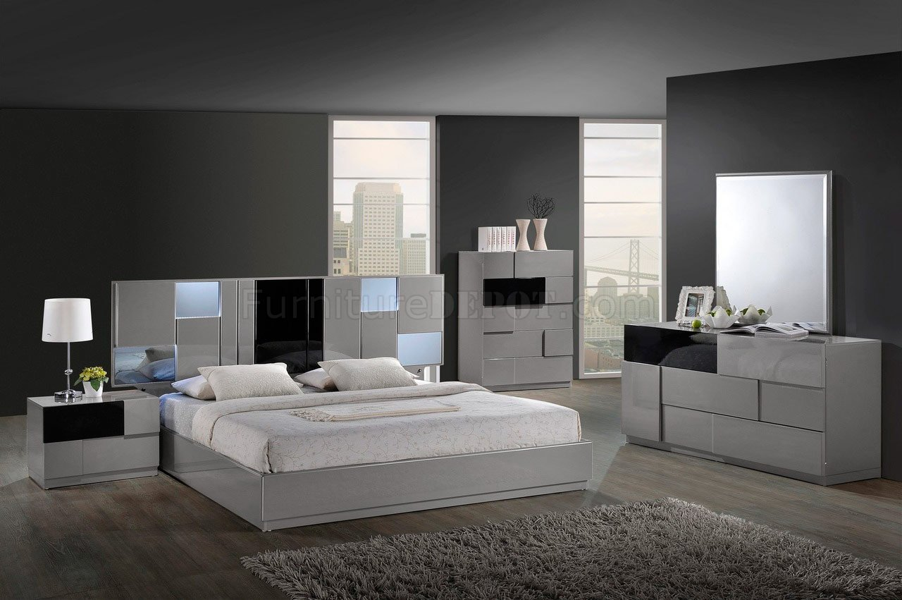 Modern platform bedroom sets - Bianca Bedroom By Global W Platform Bed Options