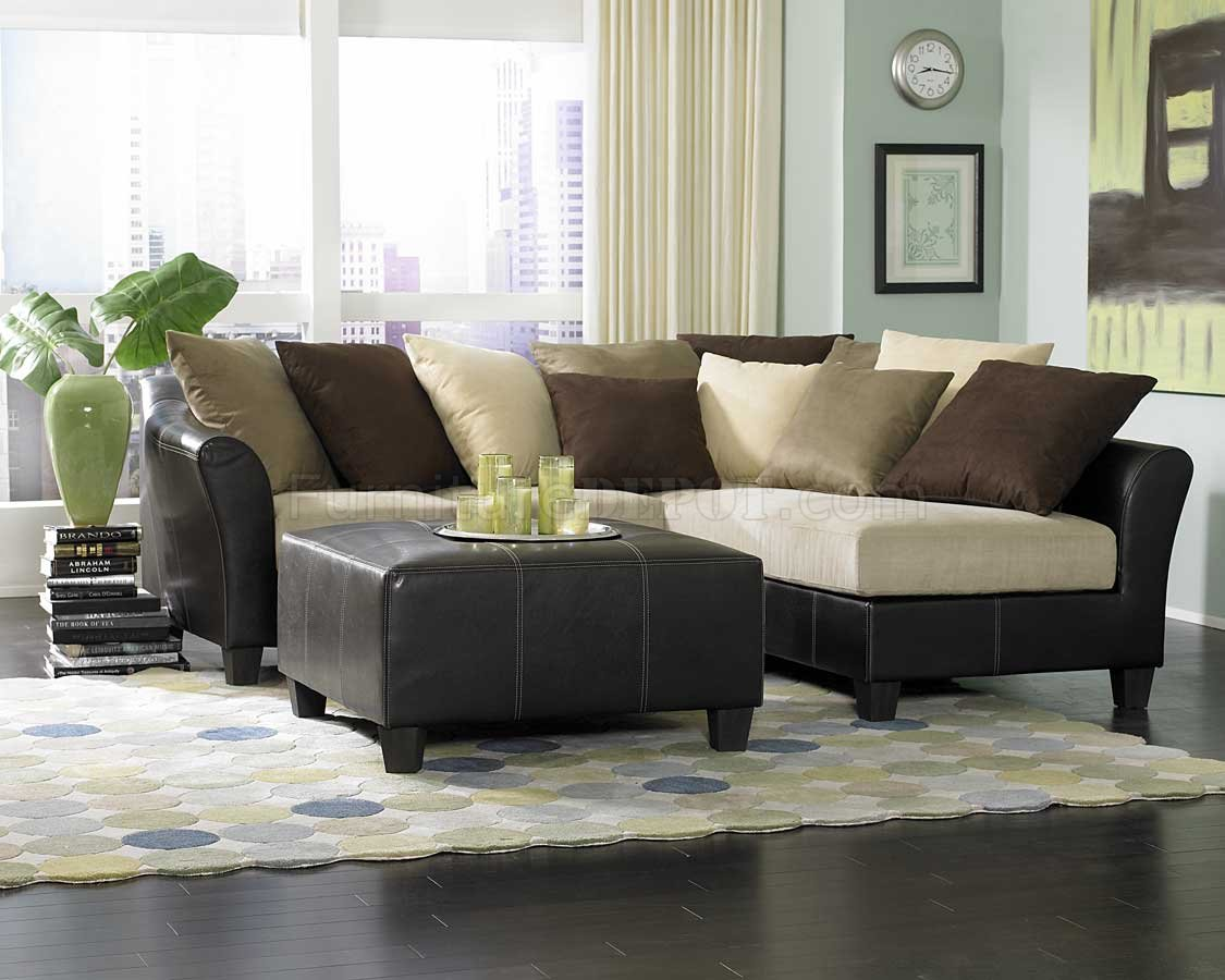 9917 Carrington Sectional Sofa In Beige Microfiber By