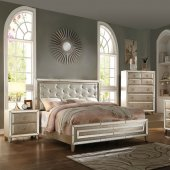 voeville bedroom in antique gold by acme woptions new