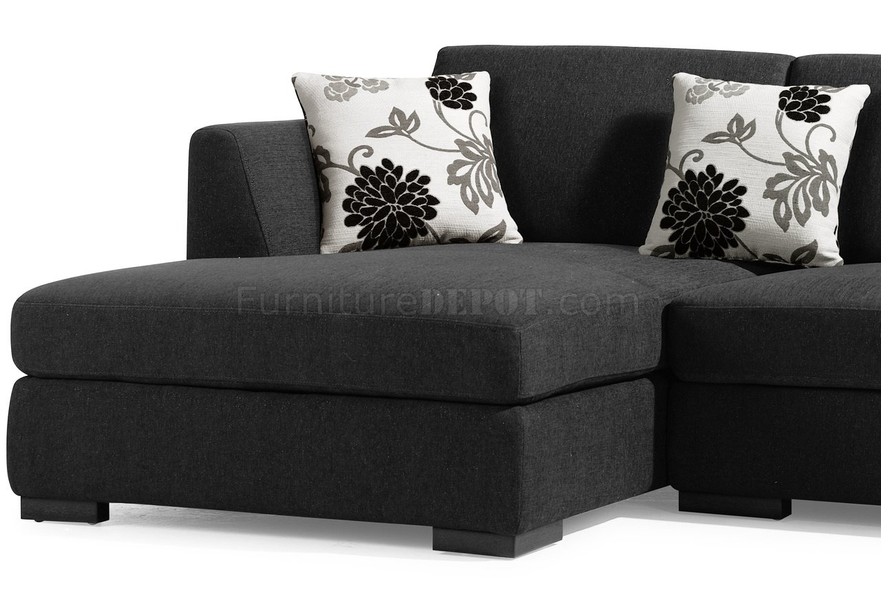 Stylish Dark Brown Microfiber Comfortable Sectional Sofa