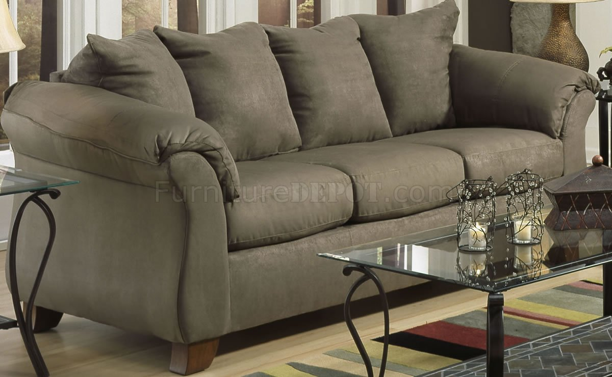 Sage Microfiber Elegant Modern Sofa Amp Loveseat Set W Options