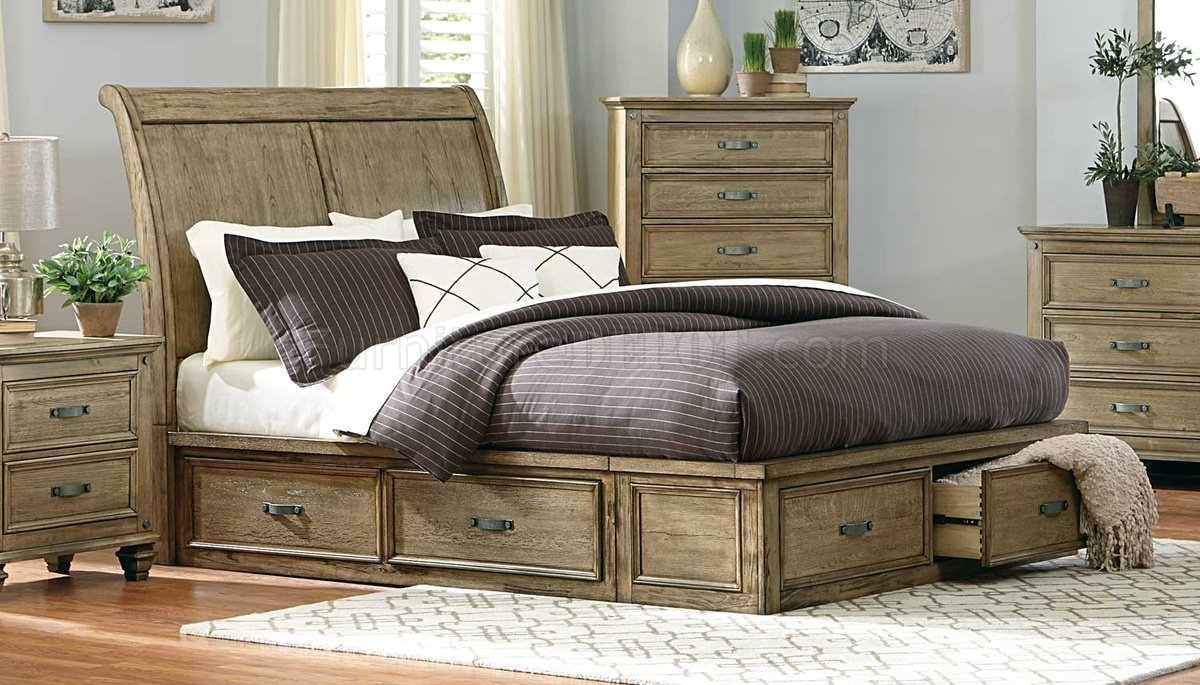 Sylvania Bedroom 2298SL in Driftwood by Homelegance w/Options