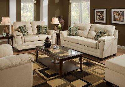 Stone Fabric Modern Casual Sofa Amp Loveseat Set W Options