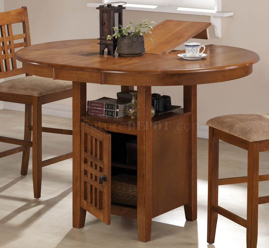 Ringgold Extendable Coffee Table With Storage: Medium Brown Finish Dinette W/Extendable Storage Table