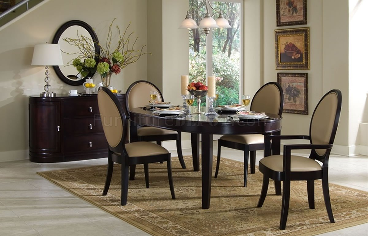 Dark Cherry Classic Dining Table W Optional Chairs