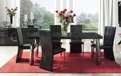 Dining Chair Set Black