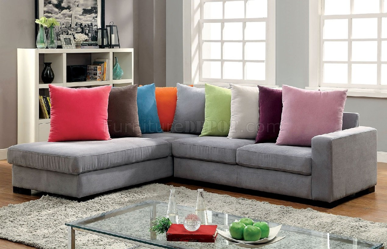 : gray l shaped sectional - Sectionals, Sofas & Couches