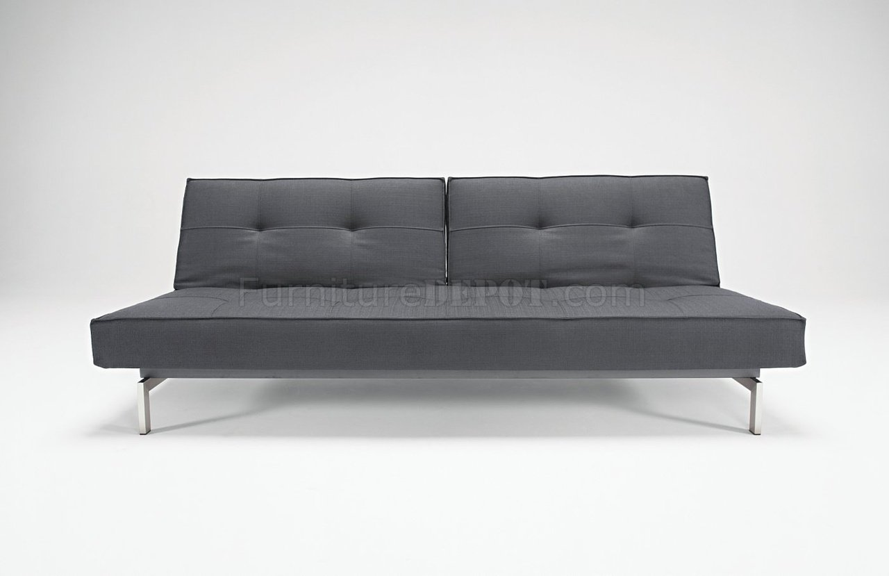 splitback sofa bed wsteel legs by innovation -