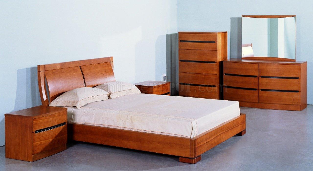 Espresso Finish Stylish Bedroom W Optional Platform Bed Design