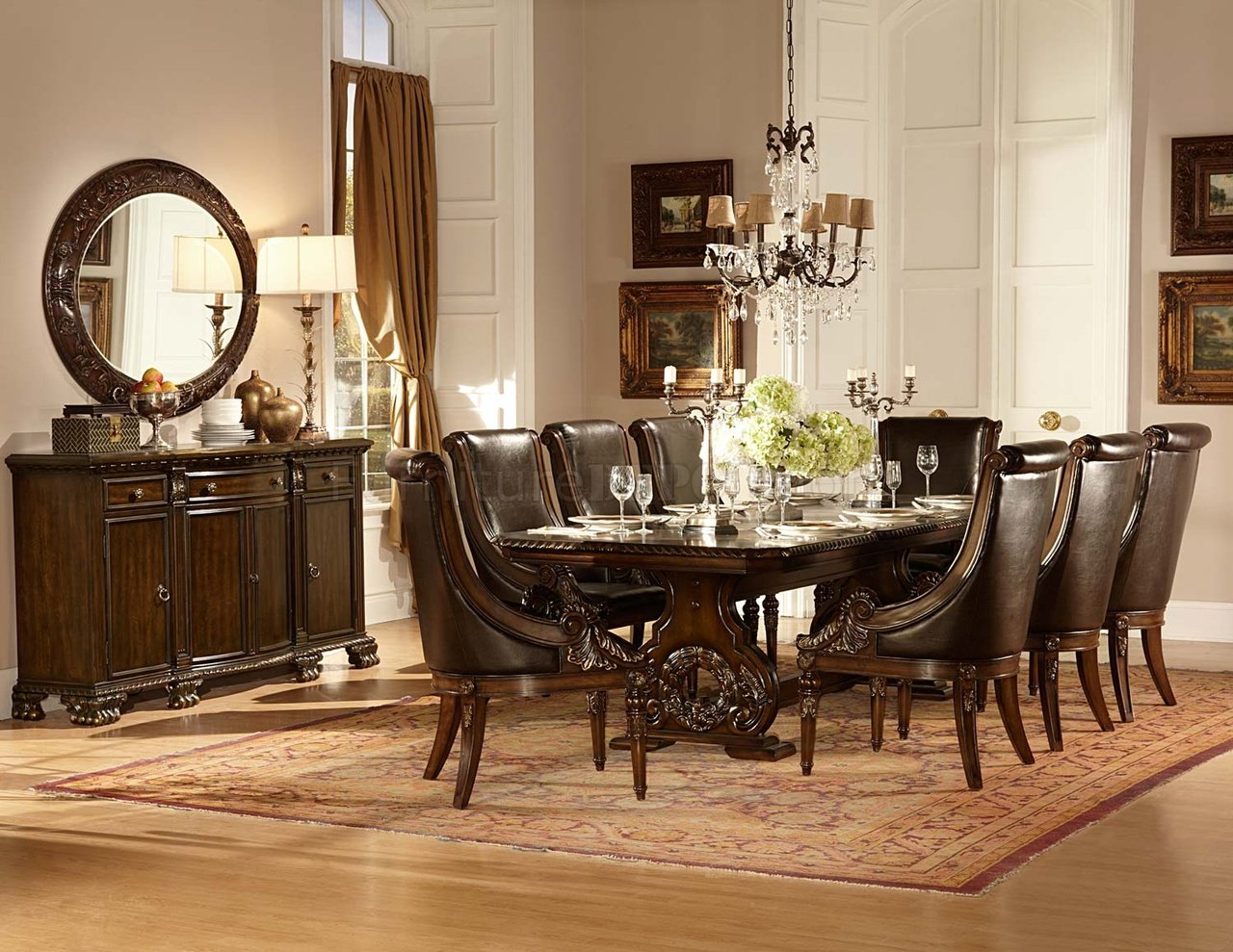 Formal Dining Room Sets For 10 Orleans 2168 108 Dining Table In Cherry By Homelegance W Options